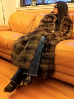 Sable Fur Cape Coat and I love  the couch too.
