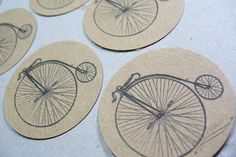 Stickers Envelope Seals Bicycle set of 25 by PinkiesPalace on Etsy, $4.25