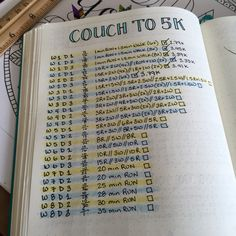 Loving my Couch to 5K running app, but being the bullet journal addict that I am, I had to create a log as well :)