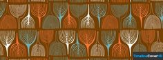 Orange Blue White Pattern Facebook Cover Timeline Banner For Fb Facebook Cover