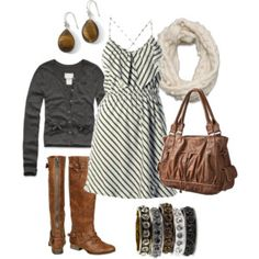 stripes, gray, and riding boots - my uniform