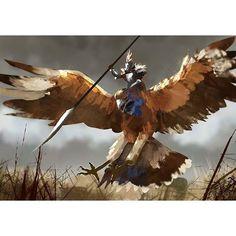 #giant #eagle #rider #speedpainting  #photoshop #painting #digital #art #sketch…