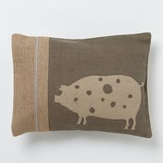 Spotted pig pillow at Terrain