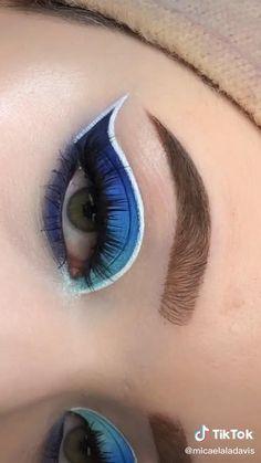 Smokey Eye Makeup Tutorial, Eye Makeup Steps, Makeup Eye Looks, Eye Makeup Art, Crazy Makeup, Eyeshadow Looks, Eyebrow Makeup, Skin Makeup, Eyeshadow Makeup
