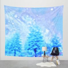 winter tapestry/magical wall tapestry/trees by haroulitasDesign
