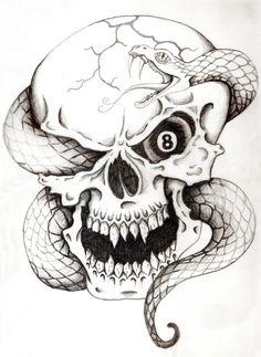 skull drawing - Pesquisa do Google