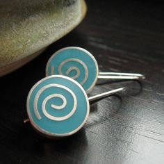 resin and silver earrings
