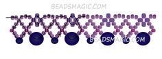 Free pattern for necklace Elegance | Beads Magic
