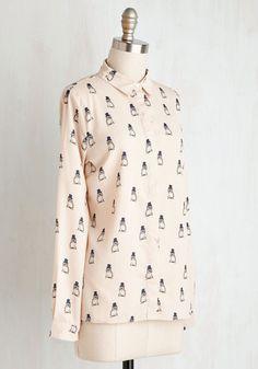 I'm Owl Dressed Up Top | Mod Retro Vintage Short Sleeve Shirts | ModCloth.com