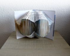 Book Art Sculpture White book by abadova on Etsy