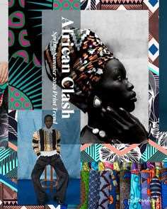 African Clash – Spring/Summer 2020 Print & Pattern Trend Stylised florals and bold African patterns clash in bright colour combos Ethnic Patterns, African Patterns, Print Patterns, Pattern Print, Spring Summer Trends, Spring Fashion Trends, Pattern Bank, Pattern Design, Textiles