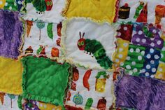 Hungry Hungry Caterpillar Baby Rag Quilt by PERFEKTLYIMPERFEKT, $100.00