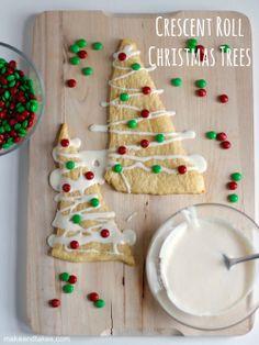 Crescent Roll Christmas Tree Treats @MakeandTakes.com.com.com