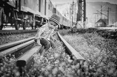 by Ľubomír Červenec on Mother Teresa, World's Biggest, Beautiful Children, Railroad Tracks, Color Splash, Photo Galleries, In This Moment, Black And White, People