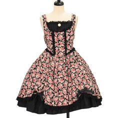 ♡ BABY THE STARS SHINE BRIGHT ♡ Floral jumper skirt http://www.wunderwelt.jp/products/detail10778.html ☆ ·.. · ° ☆ How to order ☆ ·.. · ° ☆ http://www.wunderwelt.jp/user_data/shoppingguide-eng ☆ ·.. · ☆ Japanese Vintage Lolita clothing shop Wunderwelt ☆ ·.. · ☆