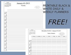 Daily Project Organizer Templates Free | Free Printable Daily and Weekly PDF Planners