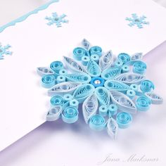snowflakes, quilling