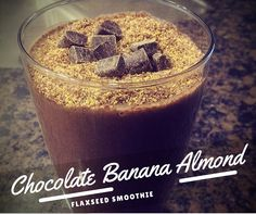 Try this one today! The thickness from the banana, the richness from the chocolate and the crunch from almonds and flax seeds... you really get it all.