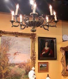 Vintage Painted Metal Grape Cluster Chandelier On Sale Was $375 ...