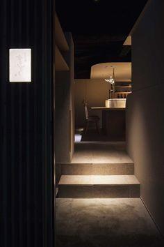 h00 Corridor Lighting, Japanese Interior, Cafe Shop, Japan Style, Japan Fashion, Downlights, Arch, Restaurant, Ideas