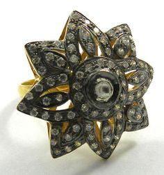 Stunning 925 Sterling Silver Ring Fashion Jewelry With Amazing Glass Polki Work  #Magicalcollection