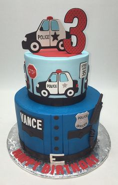 You can read my disclosure policy here . I hope you enjoy these amazing LAW ENFORCEMENT / POLIC. Police Birthday Cakes, Lego City Birthday, Police Car Cakes, Office Birthday, 4th Birthday Cakes, Birthday Themes For Boys, Cars Birthday Parties, Car Birthday, Car Cakes For Boys
