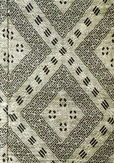 Detail of Japanese Kogin, a type of embroidery technique Japanese Folk Art Museum, Tokyo, Meiji Period, 19th Century.