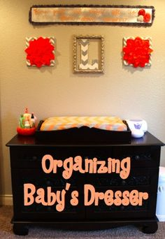 Since Laikyn's closet is small, I wanted to spread out her clothes between the dresser/changing table we got her and the closet. Her dr...