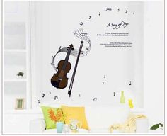 Oren Empower Violin Wall Decals For Music Fans