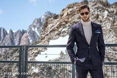 Stylowy garnitur męski w kolorze fioletowym od Giacomo Conti. Krój typu slim fantastycznie podkreśli atuty męskiej sylwetki. Klasyczna marynarka jednorzędowa, zapinana na jeden guzik. W zestawie są również spodnie zaprasowane w kant, które optycznie wydłużą sylwetkę.Warto zawrócić uwagę na kraciasty wzór. Suit Jacket, Breast, Suits, Winter, Jackets, Collection, Fashion, Mont Blanc, Winter Time