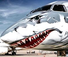 """>> more information: This """"shark plane"""" is the coolest … - aircraft design Image Avion, Passenger Aircraft, Aircraft Painting, Airplane Art, Air Brush Painting, Aircraft Design, Airbrush Art, Hai, Aircraft Pictures"""