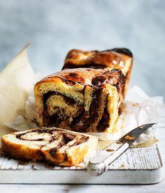 Orange-rhubarb and chocolate yeasted loaf recipe :: Gourmet Traveller