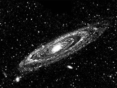 "andromeda galaxy astronomy space art printables png jpg clip art celestial digital image download black and white illustration 8.5"" x 11"""