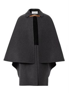 VALENTINO Layered wool and suede cape coat (214314) £2,538