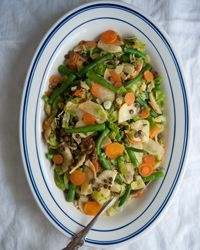 Five-Vegetable Stir-Fry with Lentils, completed with so many of our favorite ingredients!