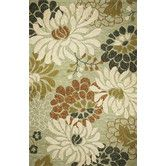 Found it at Wayfair - Meridian Seafoam Silhouette Indoor/Outdoor Area Rug