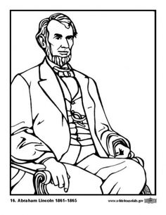 Abe Lincoln Coloring Page from Making Learning Fun Presidents