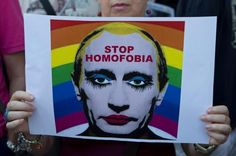 Rallies have been held around the world to protest anti-gay laws that have been adopted in Russia under President Vladimir Putin.