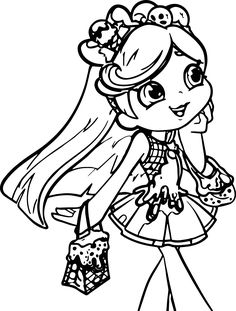 Shoppies Coloring Pages SHOPKINS Coloring pages