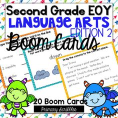 This deck is the second edition and covers the skills of prefixes, suffixes, syllables, synonyms, antonyms, commas in a series, commas in dates, commas in letter, pronouns, types of sentences.This online and interactive activity is perfect for the digital classroom. In this product, you get a link to a website. This activity contains 20 questions reviewing language arts skills covered in the second grade standards. Math Skills, Reading Skills, Grammar Skills, Guided Reading, Teaching Math, Teaching Resources, Motivational Activities, Envision Math, Math Writing