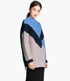 Knit Sweater in Blue | H&M US