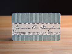 Jessica Bayless from Parklife Press. Love the stripes on this business card.
