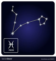 Icons with Pisces zodiac sign and constellation vector image on VectorStock Pisces Zodiac, Zodiac Signs, Vector Icons, Vector Free, Zodiac Constellations, Adobe Illustrator, Hair Accessories, Pdf, Tattoos