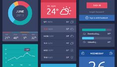 Flatastic Mobile UI Kit is a large user interface kit containing hundreds of mobile ui elements, which will help you. Web Design, Flat Design, Graphic Design, Design Ideas, Ui Kit, Interface Design, User Interface, Linux, Ui Components