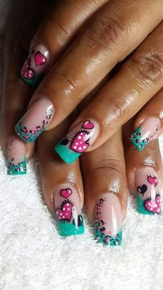 Que Heart Nails, French Nails, Pedicure, Valentines Day, Nail Designs, Nail Art, Beauty, Stitches, Amanda