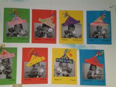 Birthday Display, Birthday Wall, School Birthday, Birthday Board, Starting School, Beginning Of School, Primary School, First Day School, Pre School