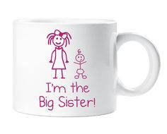 Kids Smug Mug Im The Big Sister Gift Idea by TheWallStickerComp