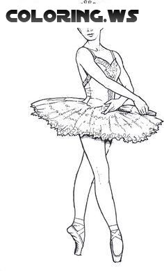 Ballerina 06 Ballerina Coloring Pages In This Coloring Page Cute Ballerina Girl Is Dancing Y Ballerina Coloring Pages Dance Coloring Pages Coloring Pages