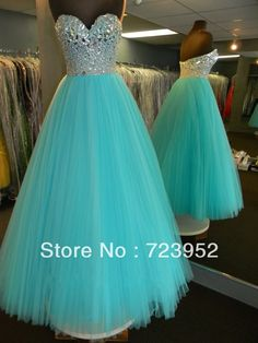 Real Sample Sweetehart Neckline Glitter Bodice Draped Tulle Rhinstone Beaded Blue Aqua Prom Dress Girls Graduation Dress US $188.00