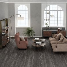Our Basic Travertine Night 24x48 Porcelain Tile aims to mirror that natural occurrence and prominent characteristic. With its blackish gray body and temperamental gray veining, it creates a realistic feeling, so accurate, it'll go unnoticed.